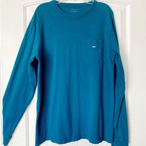 Southern Tide Long Sleeve Embroidered Pocket Shirt